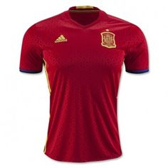 a40763326dbeb 2016 Euro Cup Spain Home Thailand Soccer Jersey Spain Football