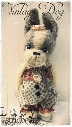 pattern dog Lucy artist pattern 7 inch by by Astridbears on Etsy, $13.00