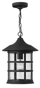 Hinkley 1802BK-ESDS Freeport - One Light Outdoor Hanging Lantern, Black Finish with Clear Seedy Glass by Hinkley. $251.07. Freeport features a classic New England design in cast aluminum construction complemented by clear seedy bound glass. This eco-friendly hanging lantern in a Black finish is engineered as both Energy Saving(ES) and Dark Sky (DS), for increased value.. Save 38%!