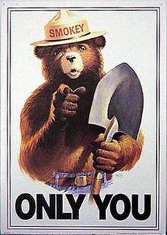 Smokey the Bear, image courtesy of Warren Sjoquist