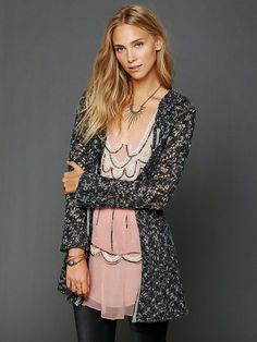 Free People Hooded Solid Cardigan