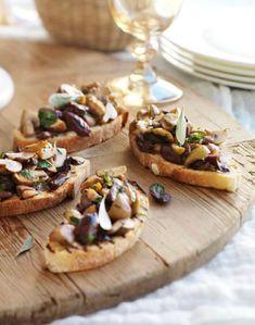 Mushroom & Olive Bruschetta Recipe - Best Home Chef
