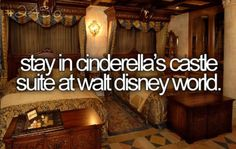 Stay in Cinderella castle suite at Walt Disney World