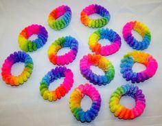 Women's Accessories, Hair Accessories, Elastics & Ties,Wholesale Lot Rainbow Scrunchies Hair Ties X - # # Rainbow Aesthetic, Kittens Playing, 90s Kids, Over The Rainbow, Tumblr, Rwby, Hair Ties, Rainbow Colors, Childhood Memories