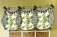 Missy Valance Sewing Pattern- lots of ideas for windows