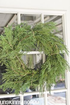 Evergreen Wreath making 101- simple and classic decor for the holidays!