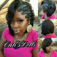 finger waves with ponytail  hair  long hair styles hair