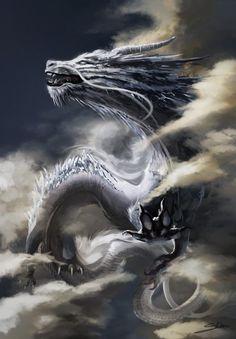 Chinese dragon, Aleksandra Skiba on ArtStation at https://www.artstation.com/artwork/3WbkY
