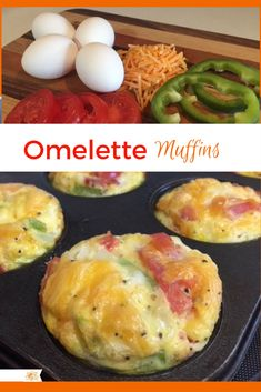 Omelette Muffins These make the best easy breakfast! Egg Recipes, Brunch Recipes, Cooking Recipes, Healthy Recipes, Recipies, Asian Recipes, Brunch Foods, Brunch Ideas, Ethnic Recipes