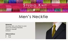 How to Knit a Tie by Studio Knit