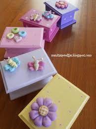 Resultado de imagen para cajas de madera decoradas con porcelana fria