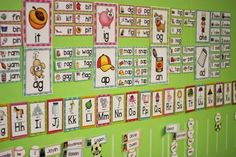 Word Family and Word Wall in kindergarten.