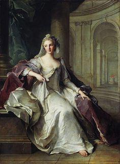 Title: Portrait of Madame Henriette de France as a Vestal Virgin, c.1749 Artist: Jean-Marc Nattier Medium: Canvas Art Print - Giclee