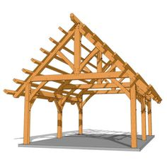 A DIY framing plan and blueprints that can be an open pergola or gazebo. The timber frame construction can be enclosed for a shed or workshop. Wood Pergola, Cheap Pergola, Pergola Shade, Pergola Plans, Diy Pergola, Pergola Ideas, Pergola Carport, Pergola Garden, Carport Plans