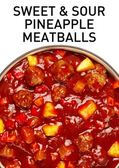 Taste some Polynesian paradise in these easy and family-friendly sweet and sour pineapple meatballs. #BiteMeMore #meatballs #recipe