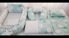 Babynest ,Su Yeşili  (tanıtım videosu)    #babynest #babynestyapımı #babynesttutorial - YouTube Baby Nest Pattern, Baby Nest Bed, Breastfeeding Pillow, Diy Bebe, Baby Gadgets, Baby Cocoon, Baby Cover, Baby Pillows, Baby Boy Rooms