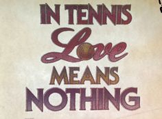 In Tennis Love Means Nothing Vintage Glitter Iron On Heat Transfer by VintageIronOn on Etsy