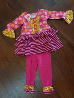 cc6a355c82740 JELLY THE PUG GIRLS PINK DARCY ORCHARD TREE DRESS & LEGGINGS~NEW IN BAG~SIZE  2T | eBay