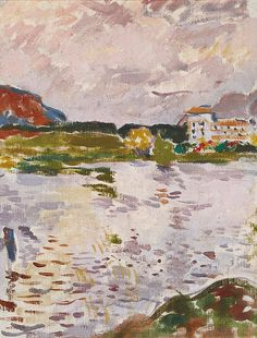 Alberto Giacometti, Paysage à Maloja: le lac et le Maloja Palace, 1920, 32,5 x 25,7 cm
