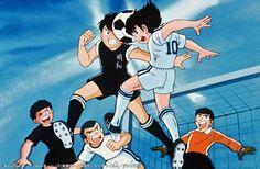 oli y steve Captain Tsubasa, Old Anime, Manga Anime, The New Wave, Cartoon Network, My Childhood, Tv Series, Soccer, Boys Who