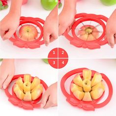 C$ 1.55 Cheap fruit and vegetable carving tools, Buy Quality fruit spoon directly from China fruit vegetable carving tools Suppliers:                                 Apple Slicer Corer Wedge Cutter Pear Fruit Div