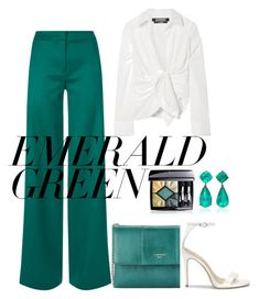 """Senza titolo #1863"" by granatina ❤ liked on Polyvore featuring La Perla, Christian Dior, Lanvin, Jacquemus and emeraldgreen"