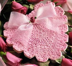 easy crochet dollies patterns | CROCHET DOILY DOUBLE HEART PATTERN ROSE « CROCHET FREE PATTERNS