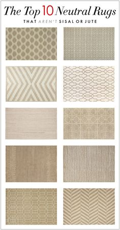 the top 10 neutral rugs that aren't sisal or jute @Laura Jayson Jayson Norton all your neutral nursery pins made me think of you on this one