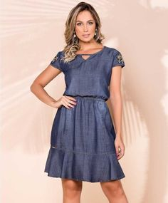 Short Sleeve Dresses, Dresses With Sleeves, Chambray, Dress Skirt, Fashion Dresses, Cute Outfits, My Style, Jeans, Casual