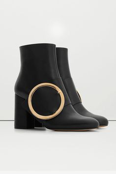 Because your accessories deserve piercings, too.Mango Buckle Ankle Boots, $149.99. available at Mango.  #refinery29 http://www.refinery29.com/leather-boots-for-women#slide-10