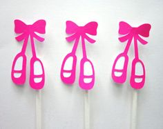 This listing is for (12) Ballerina Ballet tutu Cupcake Toppers. These cute Ballerina Ballet Tutu Cupcake Toppers would be perfect for a ballerina birthday, ballerina baby shower or any type of ballet theme party.    Purchase Includes:    - (TWELVE) Cupcake Toppers which are approximately 2 W and attached to a lollipop stick.    Cupcake Toppers are made out of a single layer of premium cardstock paper and are attached to a lollipop stick on the back of toppers. (These are single sided…