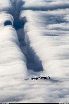 Cutting the clouds.