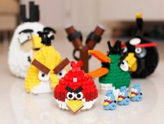 Lego + Angry Birds... the boys would love making these! Lego Camp next year!
