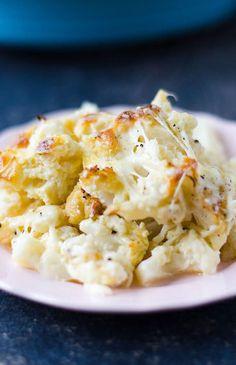 Cheesy Cauliflower Casserole | giverecipe.com | #cauliflower #casserole
