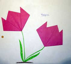 Tulpen falten - Kinderspiele-Welt.de