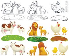 3D Puzzles for children on Behance