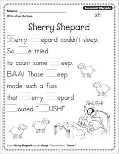 sh poem digraph - Google Search
