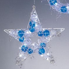 Premier 3D Star with Balls and White LED