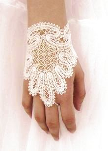 Embroidery Designs - Fingerless Lace Gloves III.