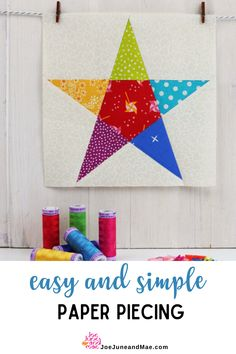 Are you looking for an easy and simple paper piecing that has a stunning results? You may want to check out this blog post here! #joejuneandmae #quiltingtips #quilt #paperpiecedpatterns Free Paper Piecing Patterns, Beginner Quilt Patterns, Baby Quilt Patterns, Modern Quilt Patterns, Quilting For Beginners, Sewing Patterns, Quilt Blocks Easy, Easy Quilts, Quilting Projects