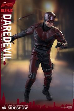 toyhaven: Check out Hot Toys Marvel Netflix scale Charlie Cox Daredevil collectible figure Daredevil Suit, Daredevil Tv Show, Daredevil Action Figure, Marvel Dc Comics, Marvel Heroes, Marvel Avengers, Marvel Universe, Charlie Cox, Awesome