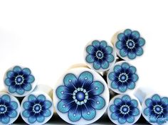 Polymer clay millefiori cane unbaked polymer clay by RonitGolan, $4.95