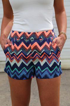 Adorable chevron shorts!