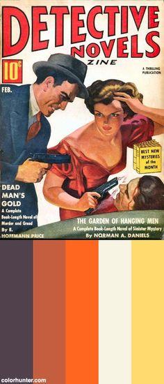 277b Detective Novels Feb-1939 Includes Dead Man's Gold By E. Hoffmann Price Color Scheme
