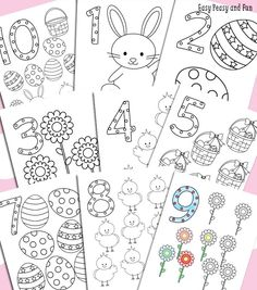 Free Easter Printables: Easter Counting Coloring Pages from Easy Peasy and Fun