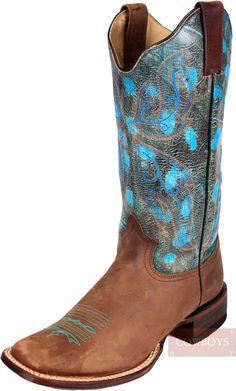 Bota roper Bico Quadrado Feminina Modelo Estilo Desgastado bota feminina  marca Roper. Couro legítimo fóssil 92d9b662329