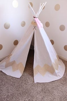 The Top Modern Kids Play Tents, Teepees, or Forts - loving this list from PJ. www.SmallforBig.com #tents #kids #playrooms