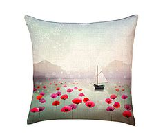 Coussin Manille, lin – 40*40