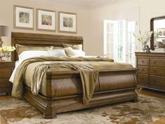 Shop for Universal Furniture Louie P's King Sleigh Bed, and other Bedroom Sleigh Beds at Carol House Furniture in Maryland Heights and Valley Park, MO. Wood Sleigh Bed, Sleigh Beds, King Bedroom, Home Bedroom, Master Bedroom, Bedroom Ideas, Bedroom Furniture Sets, Bed Furniture, Cheap Furniture