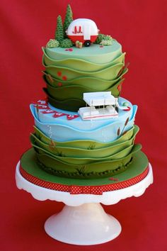 Cool caravan cake